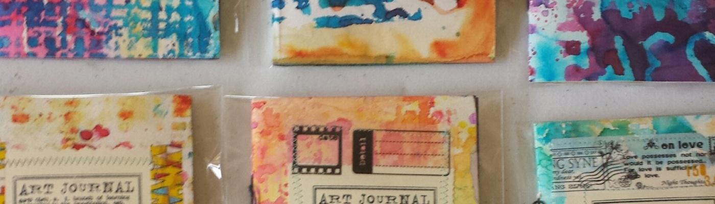 Color Burst handmade journals