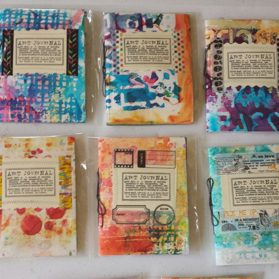 Color Burst handmade journals