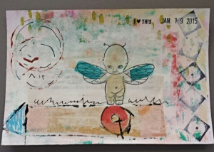 collaged postcards
