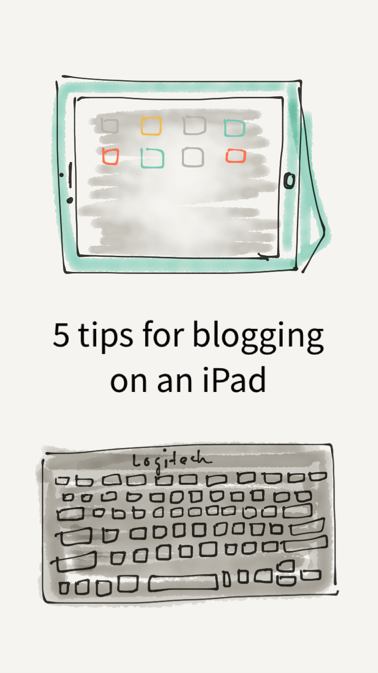 Tips for blogging on an iPad