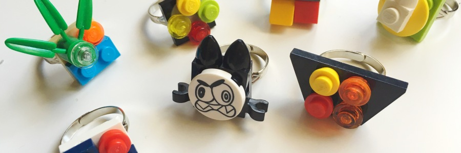 Lego jewelry rings