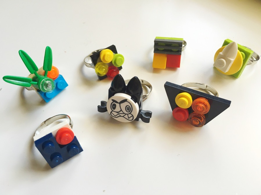 Lego jewelry rings