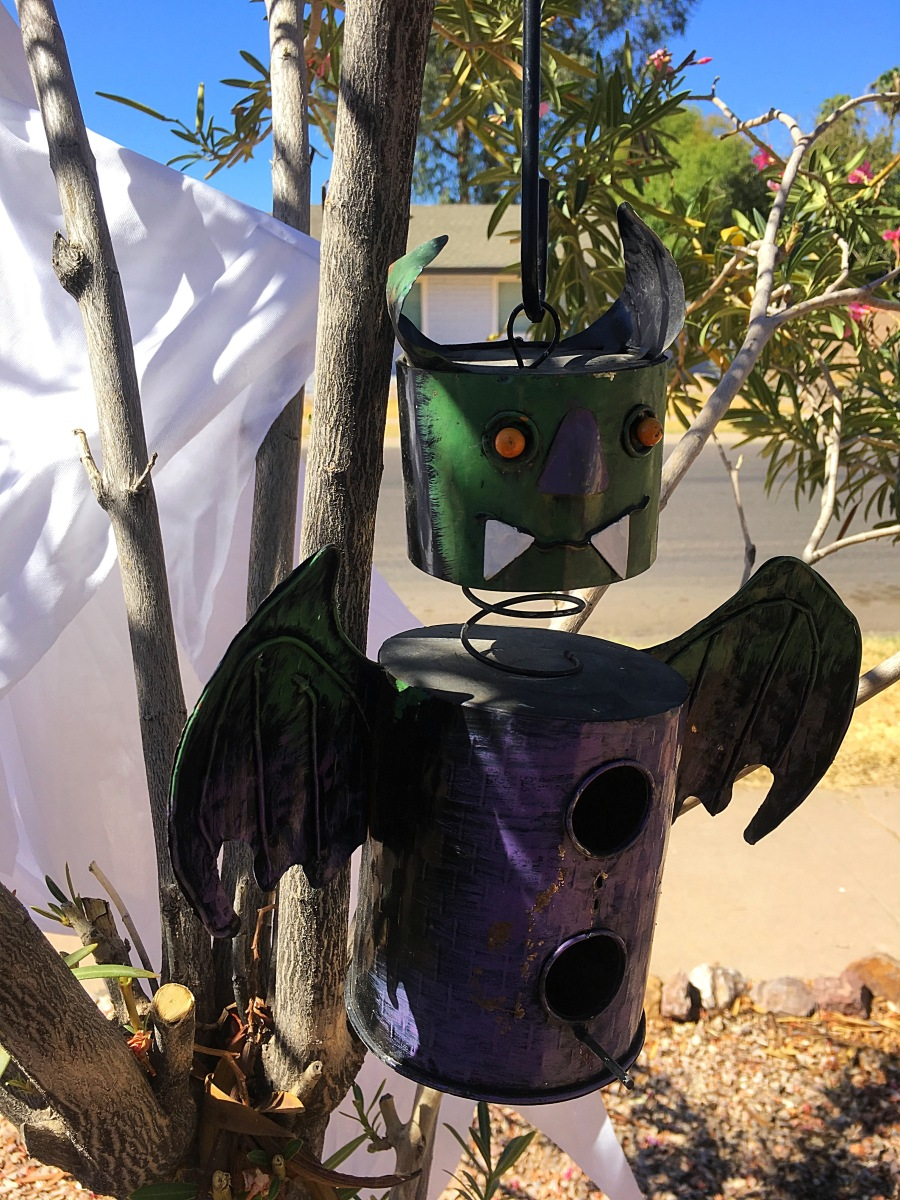Halloween monster bird house