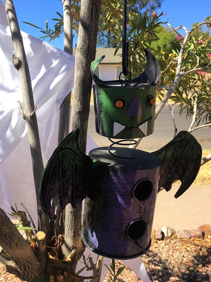 Halloween monster bird house