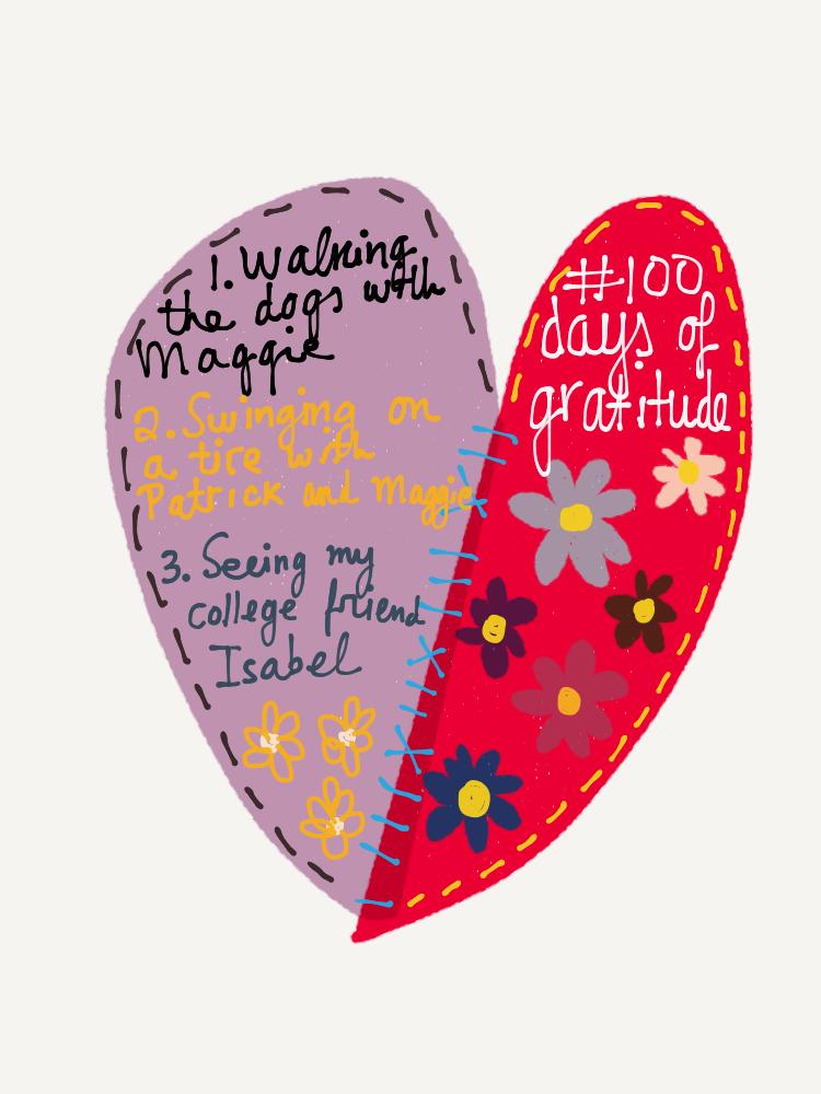 grateful heart digital art