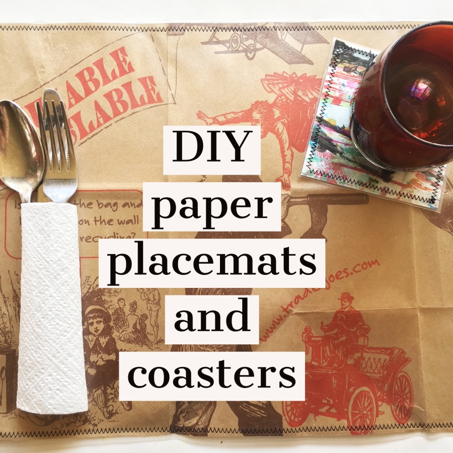DIY paper placemats and coasters