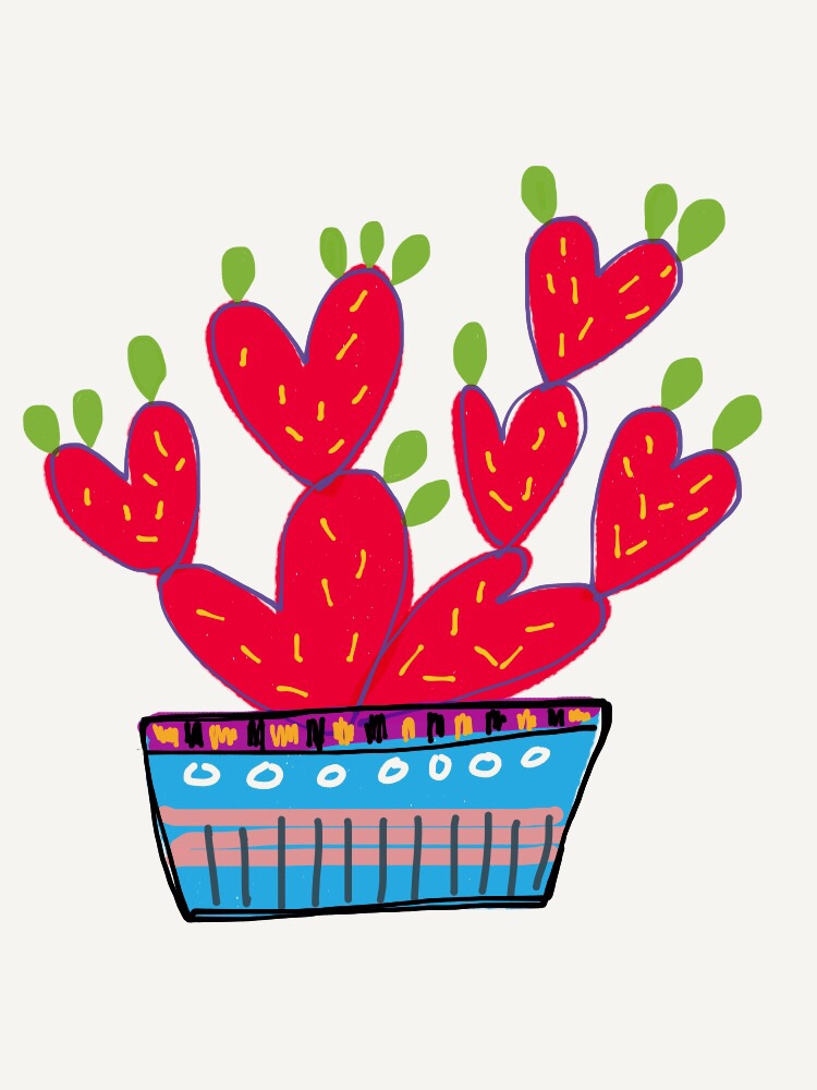 Digital cactus illustration