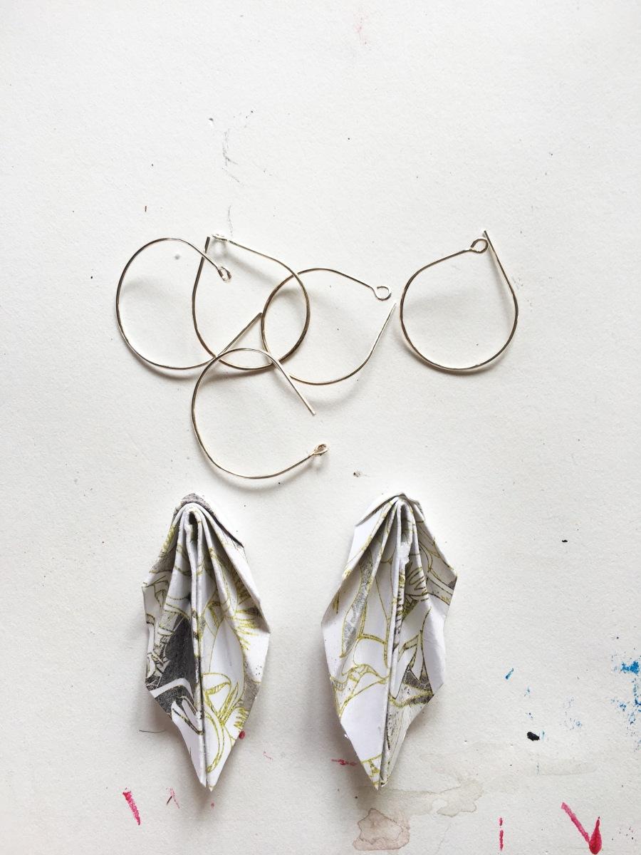 Origami earrings