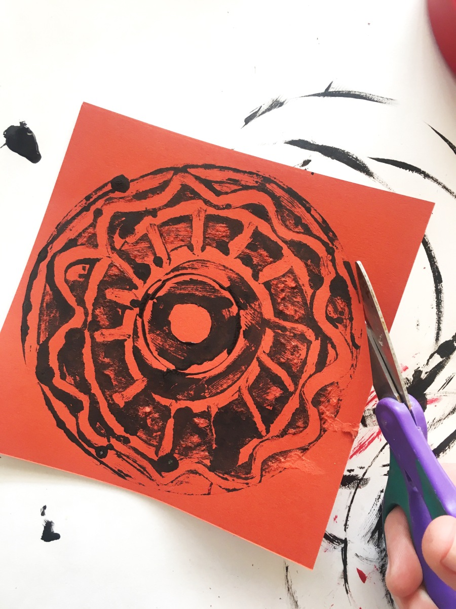 Monoprinting with CD