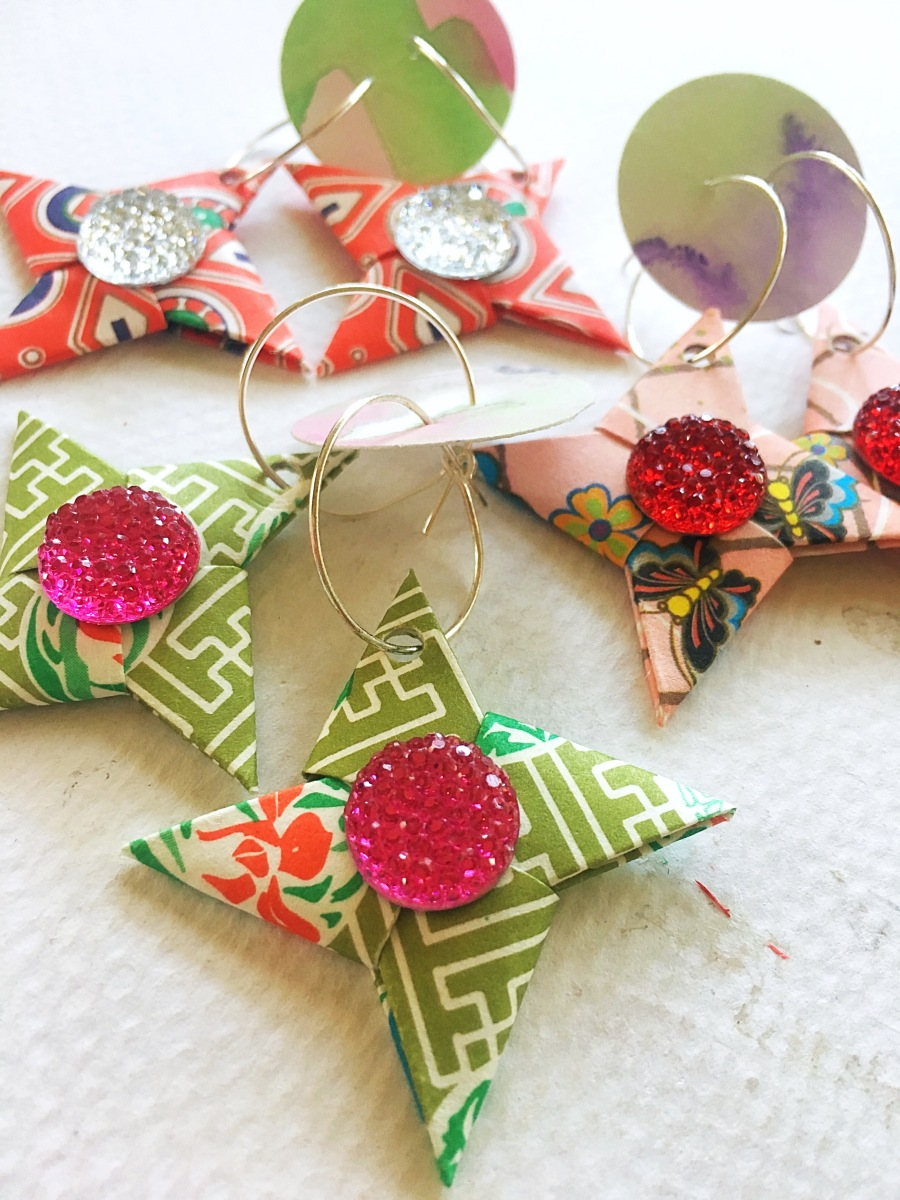 Origami earrings 4