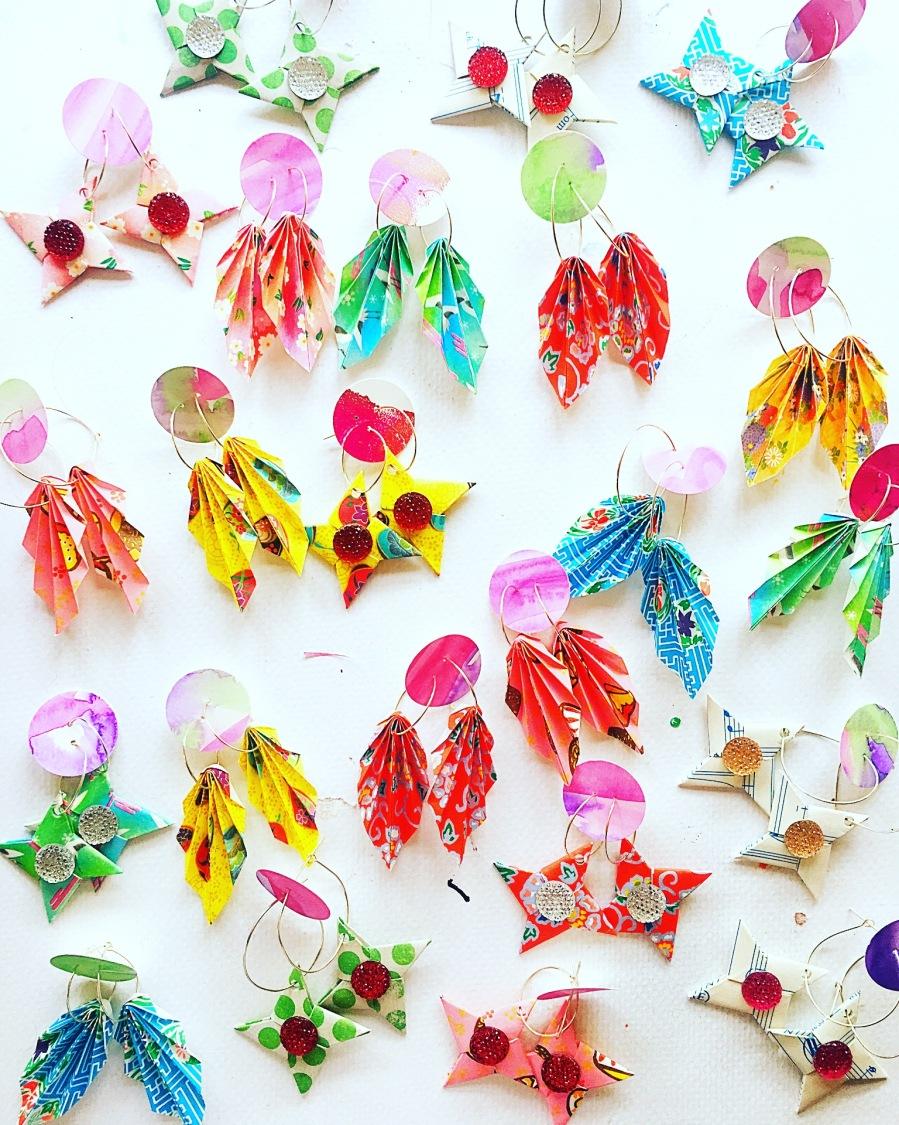 Origami earrings 5