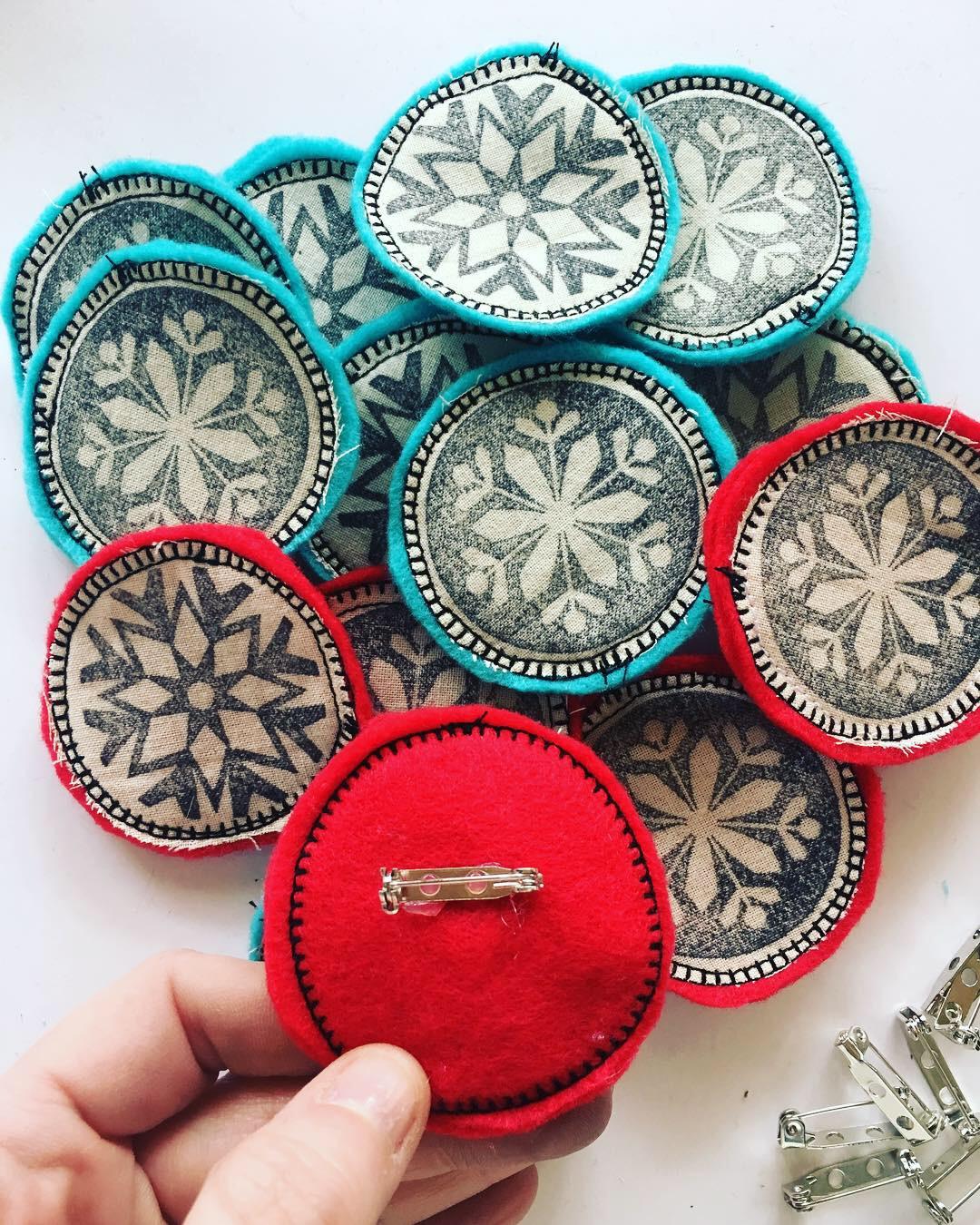 snowflake pins