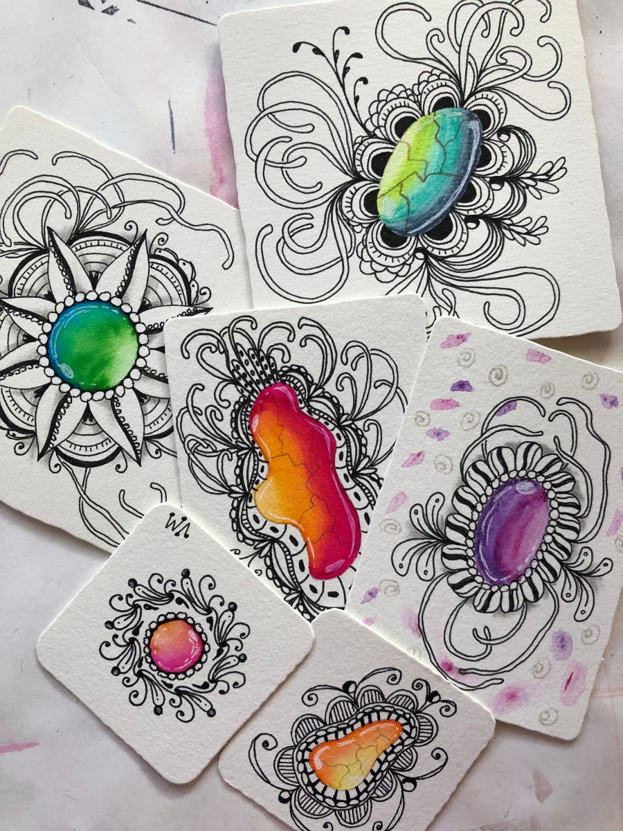 Zentangle Jewels